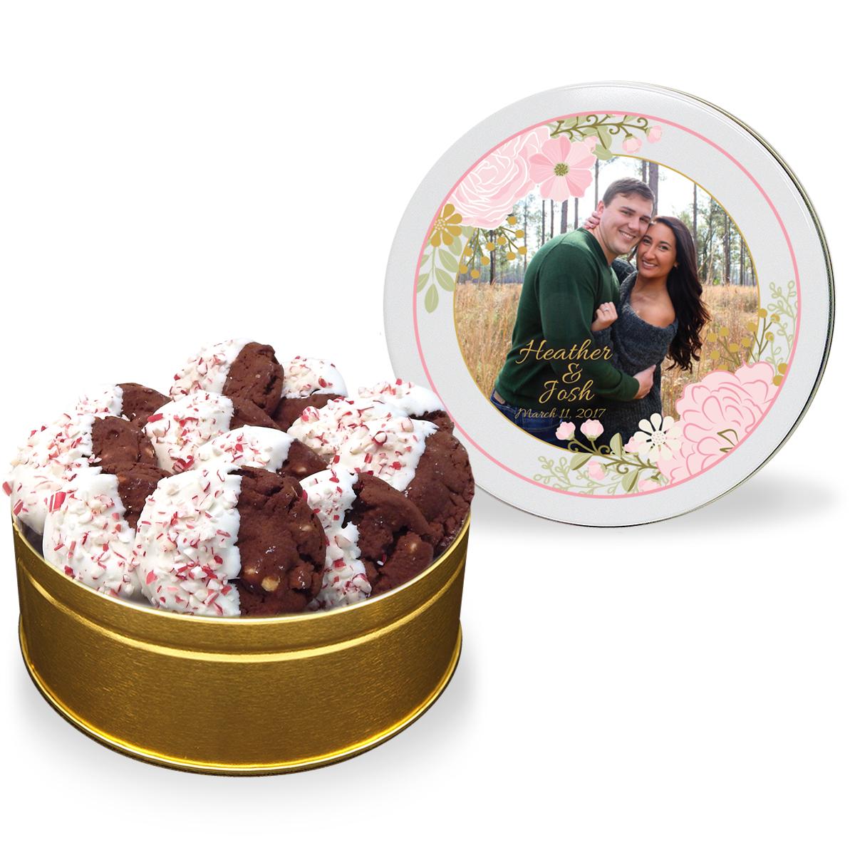 Wedding/Anniversary Winter Wonderland Gourmet Cookie Tin   Fresh ...